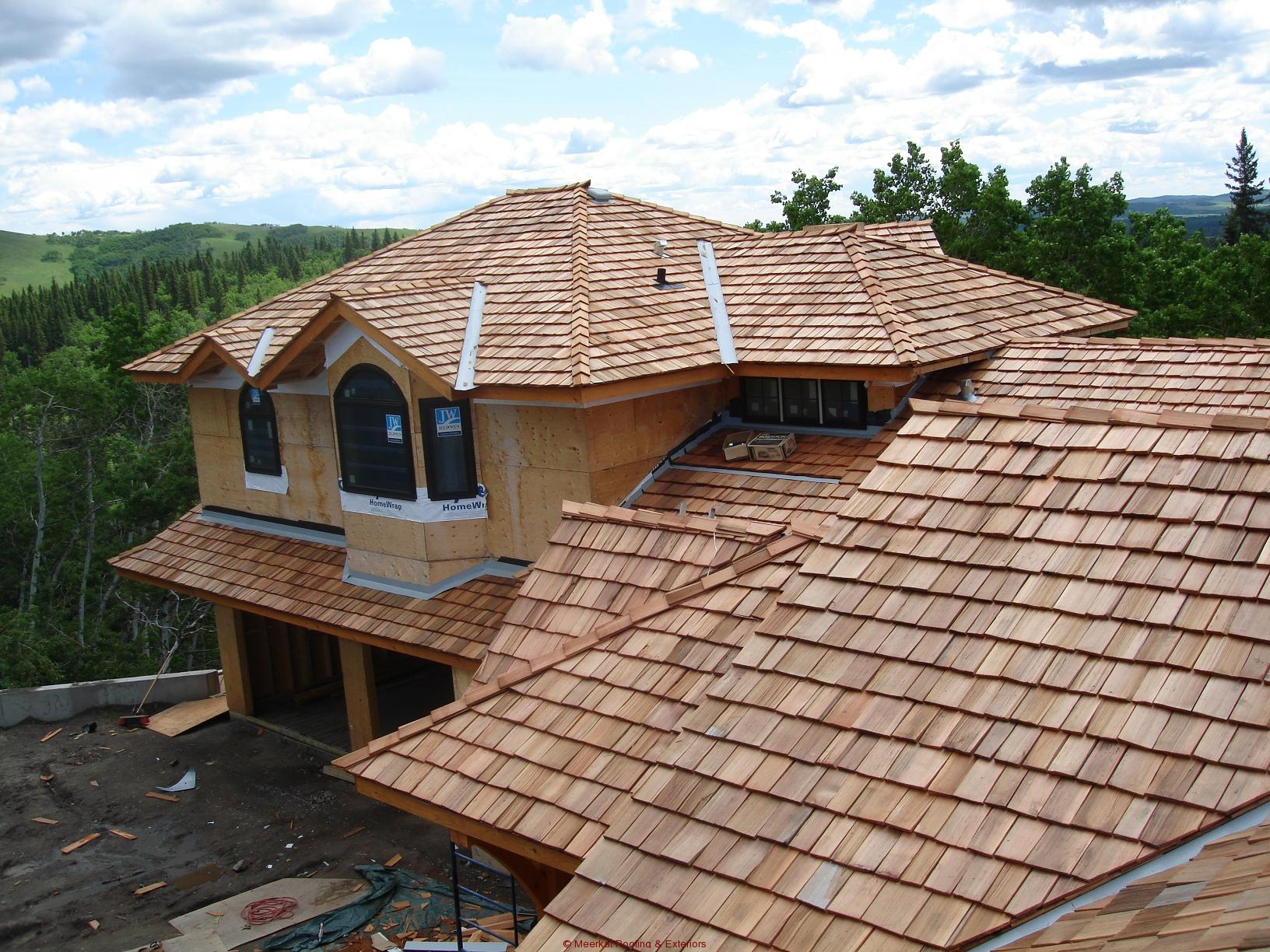 how to build a wood shingle roof